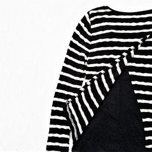 White House Black Market Layered Stripe Sweater